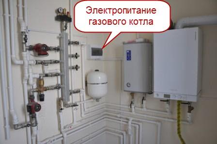 заземление газового котла, устройство электропитания котла